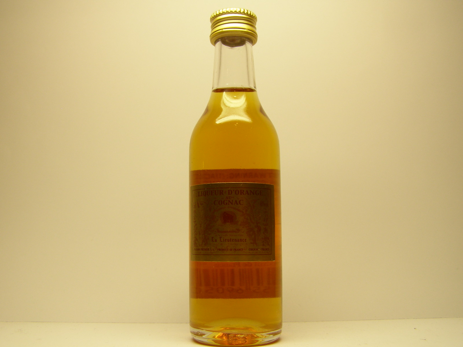 LA LIEUTENANCE Liquer d orange Cognac