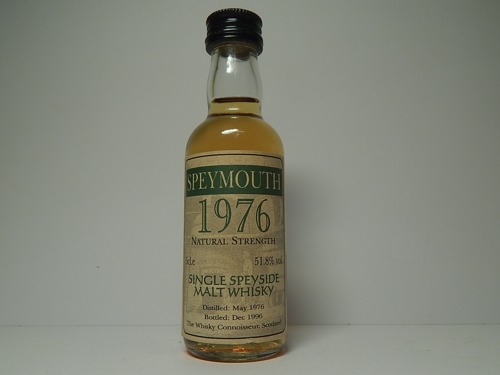 "SPEYMOUNTH Natural Strenghth SSMW 20yo 1976-1996 ""Whisky Connoisseur"" 5cl.e 51,8%vol"