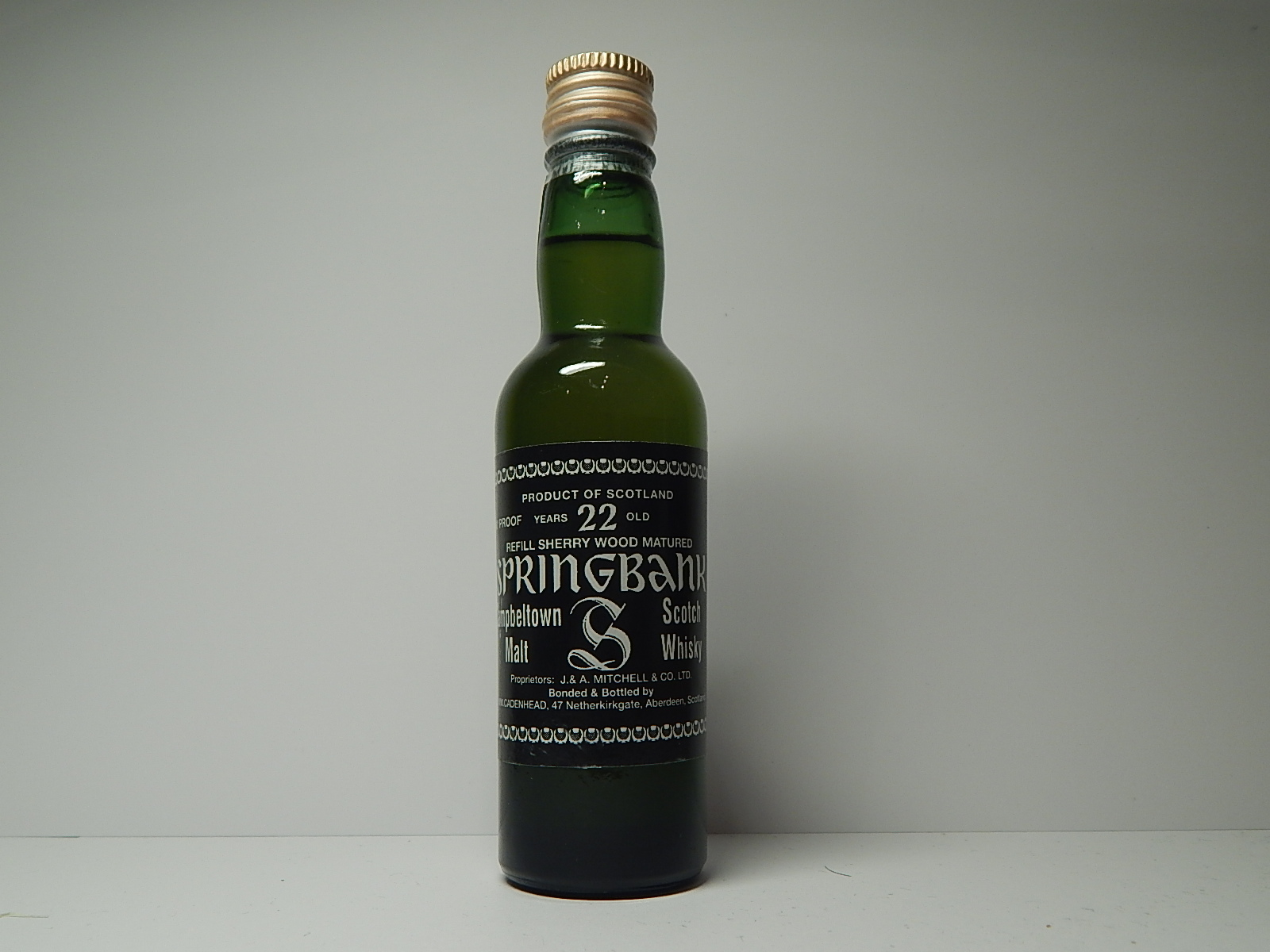 "Refill Sherry Wood Matured CMSW 22yo ""Cadenhead"" 80´PROOF"