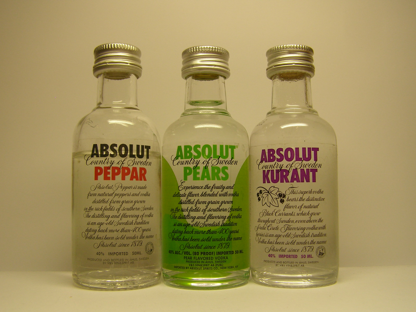 ABSOLUT Peppar - Pears - Kurant